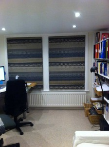 Fab Margo Selby blinds in my office - finished at last!